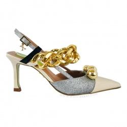 Zapato beig-plata XREBBELS